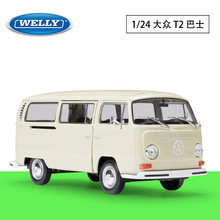 WELLY 1:24 Volkswagen 1972 T2 BUS bus van simulation alloy car model crafts decoration collection toy tools gift цена