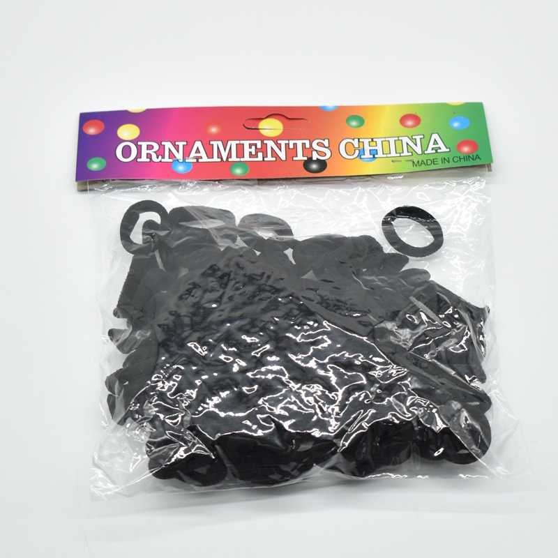 100 piezas de Color caramelo elástico negro diadema de pelo cuerda de goma bandas cabello accesorios para el cabello de goma de mascar para chica chico de cola de caballo