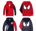New Hot Children Hoodies Jacket Boys Spring Autumn Coat Zipper Outwear Fit 3-7Yrs Kids Long Sleeve Baby Clothing Retail