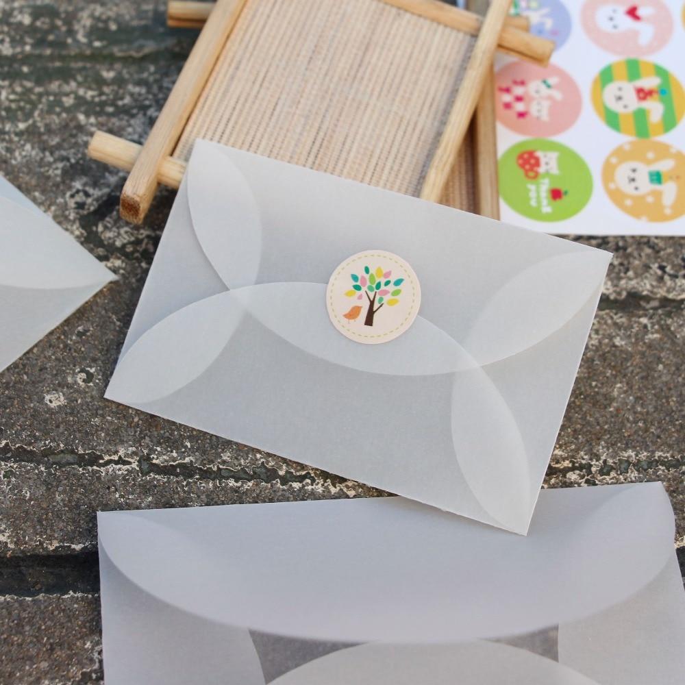 10Pcs 3Sizes DIY Fashion invitation favor gift transparent envelopes ...