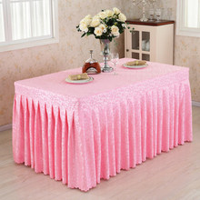 купить customized conference table skirt cover rectangular sign table skirt exhibition event desk tablecloth fabric table cover по цене 1913.28 рублей