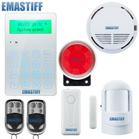 English Russian Spanish Voice Wireless GSM Alarm Touch Menu Keypad Security Alarm System With Pir Motion