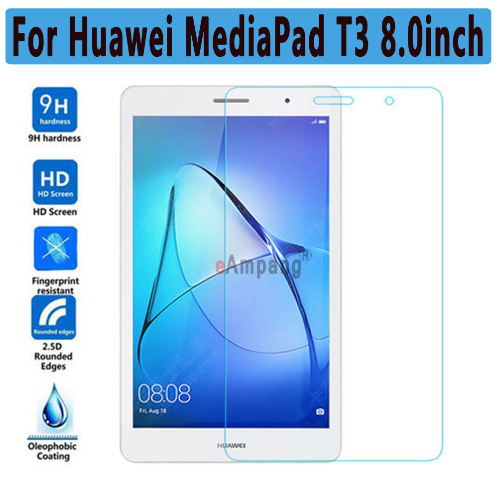 For Huawei MediaPad T3 8.0 Tempered Glass Ultra-thin Clear Scratch Resistant Screen Protector For Huawei T3 8.0