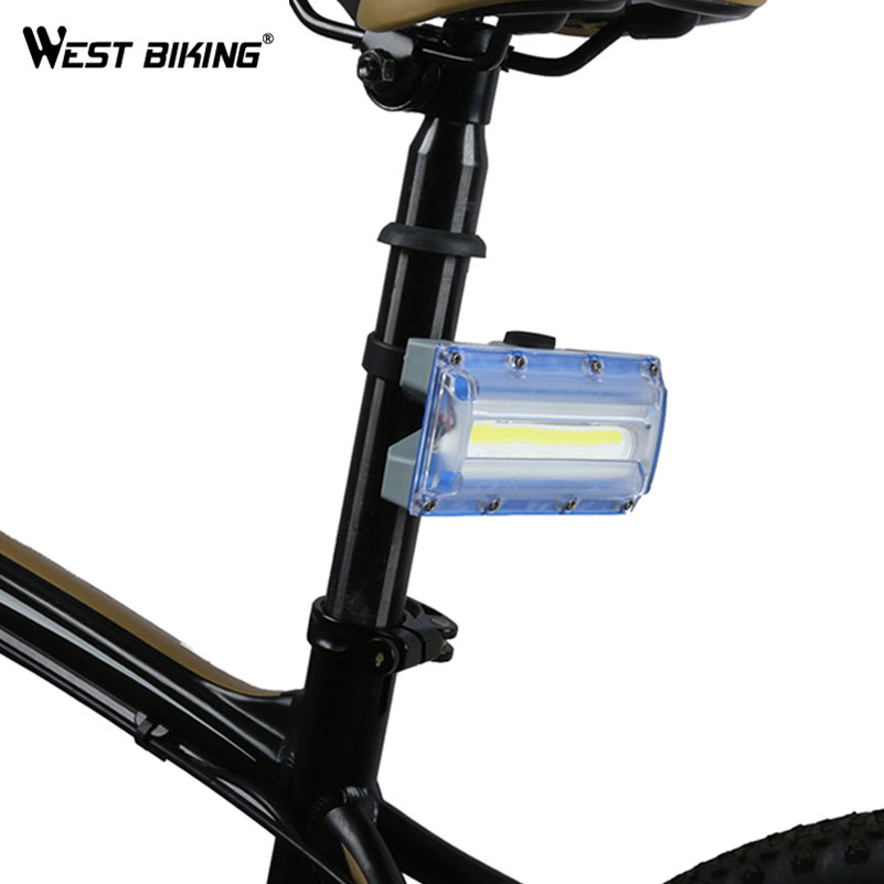 WEST BIKING Super Bright Bike Light 3 Modes USB Charging Warning Taillight Cycling Flashlight Rear Lamp Rainproof Bicycle Lights туфли nine west nwomaja 2015 1590