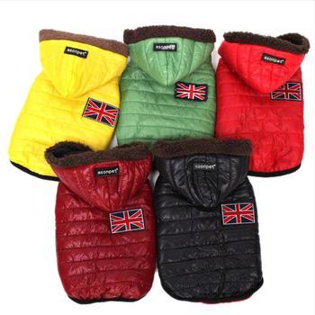 5-צבע לחיות מחמד כלב בגדים חם פרווה סלעית כלב מעיל Windproof מעיל כלב בגדים לחיות מחמד בגדי מעיל סיטונאי XS /S/M/L/XL