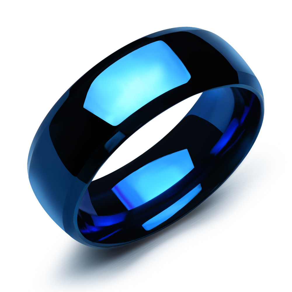 stainless rings com the our couple ocean sea noble as pure steel band blue pcs amazon fate love wedding dp