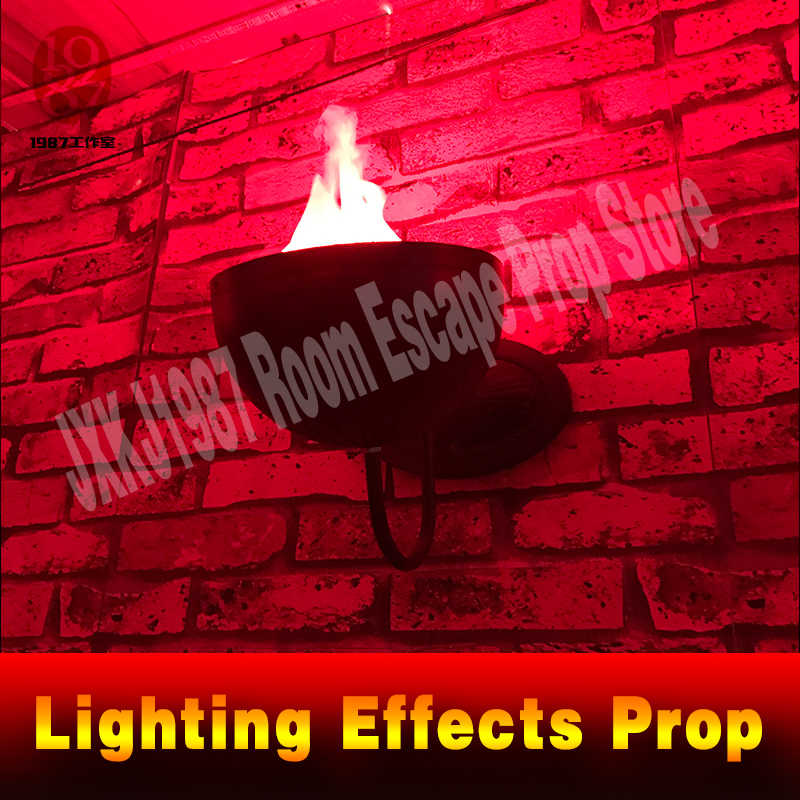 Real life room escape decoration puzzle Lighting Effects Prop detects players lamps light up group by group JXKJ1987 STUDIO