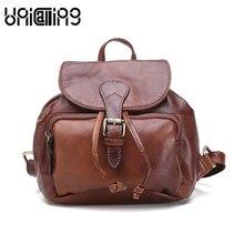 Модная брендовая натуральная кожа женский рюкзак ретро Высший сорт мини-рюкзак из коровьей кожи прекрасный рюкзаки для девочек-подростков