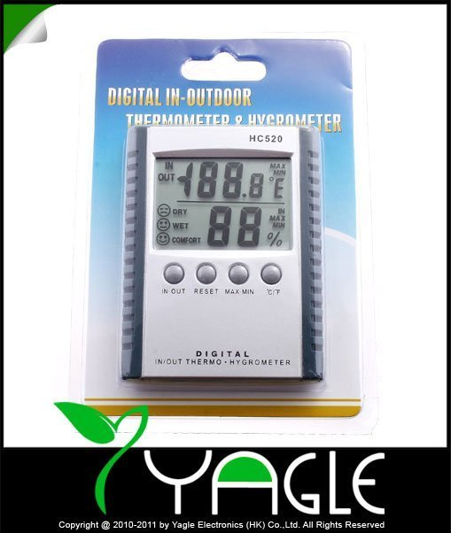Welcome by EMS, Digital IN-OUTDOOR Temperature Humidity Thermometer & Hygrometer