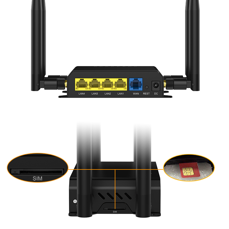 Image 2 - Router Wi Fi Watchdog With 4 External 5dBi Antennas 3G 4G LTE SIM Card Wifi openWRT Factory Wholesale WE826 WD-in Wireless Routers from Computer & Office