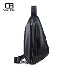 Men Shoulder Cycling Bag Leather Casual Black Man Crossbody Bag Sling Bags High Quality Waterproof Travel Chest Bags For Male