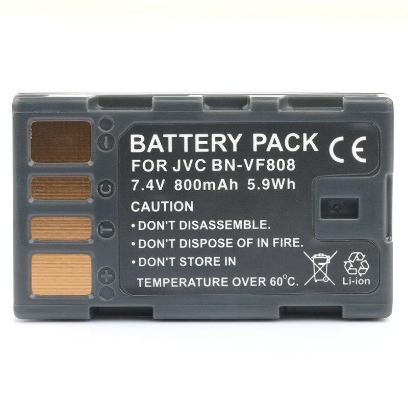 LANFULANG BN-VF808 BN VF808 Rechargeable Données Batterie pour JVC Everio MiniDV Caméscopes BN-VF808AC BN-VF808U BN-VF818 BN-VF818U