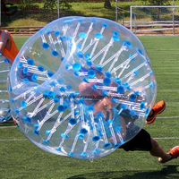 Promotion human size football bubble ball, PVC Inflatable bumper ball for sport games