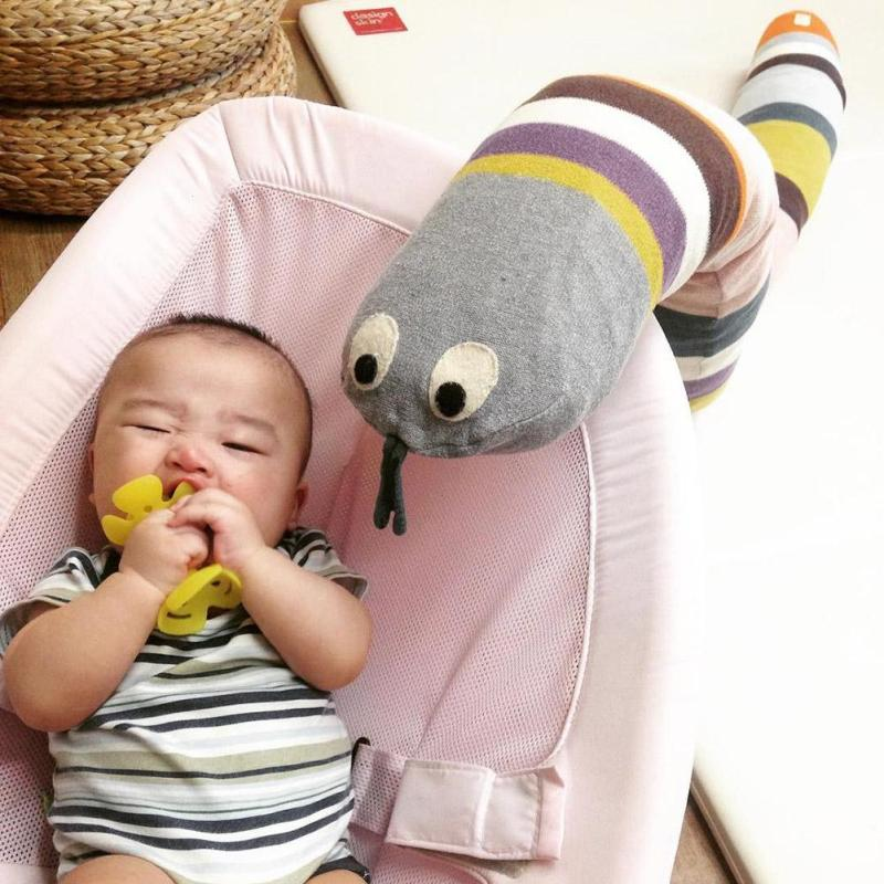 Kids Plush Toys Newborn Baby Snake Pillows Infant Appease Dolls Lovely Snake Toys Brinque Cama Sleeping Pillow Cushion Speelgoed cute sheep infant reassure towel newborn blankie baby appease towel educational plush rattle toy
