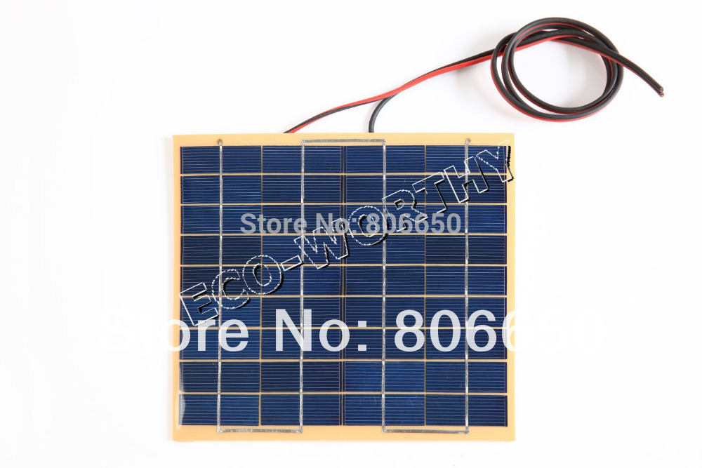 ФОТО 10w 2 Pcs 5W 18v Solar Cell Panel for Diy Boat Car 12V Battery Charger Solar Generators