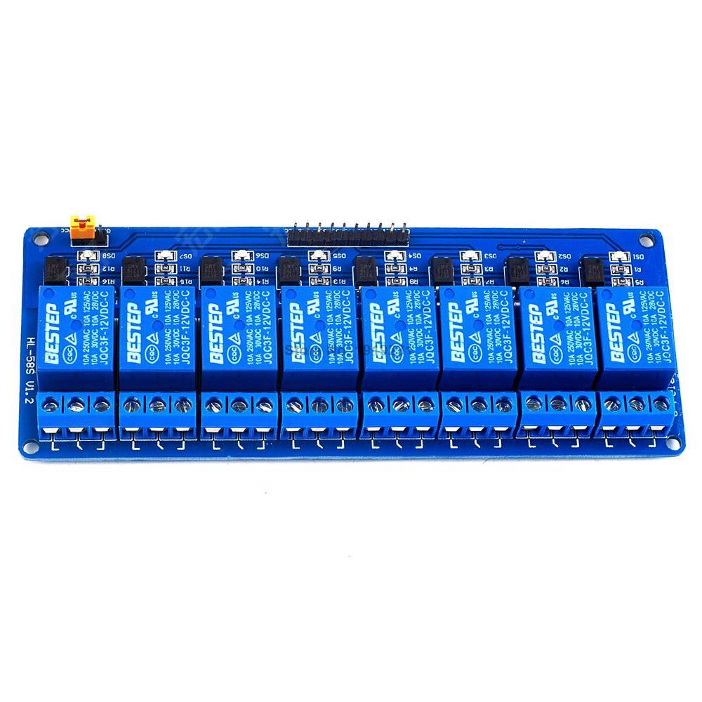 Module de relais /à semi-conducteurs /à d/éclencheur de haut niveau DC 5 12V 1 canal sortie 250VAC 2A avec fusible 12V