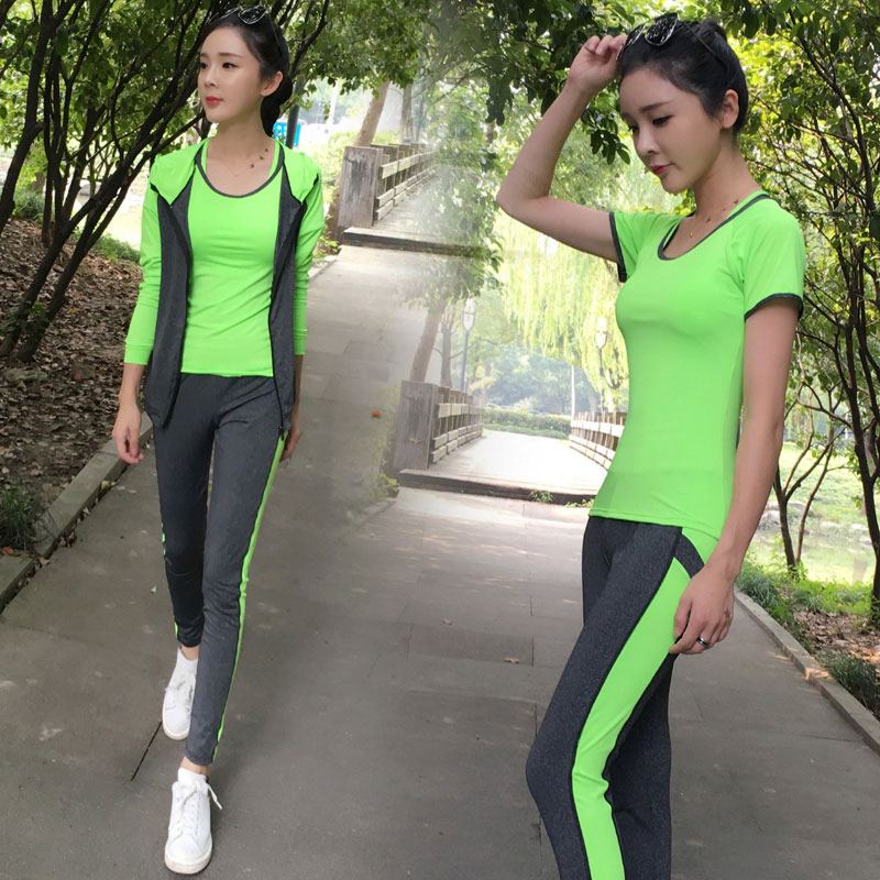Breathable Sport suit Women Fitness suit Yoga bra Long sleeeve Hoodies Running Yoga t shirt Sports Leggings Quick dry Sportswear от Aliexpress INT