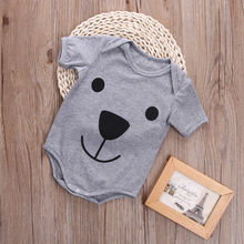 baby romper 2016 wholesale cartoon bear printed romper newborn kids baby boys girl infant romper clothes outfit