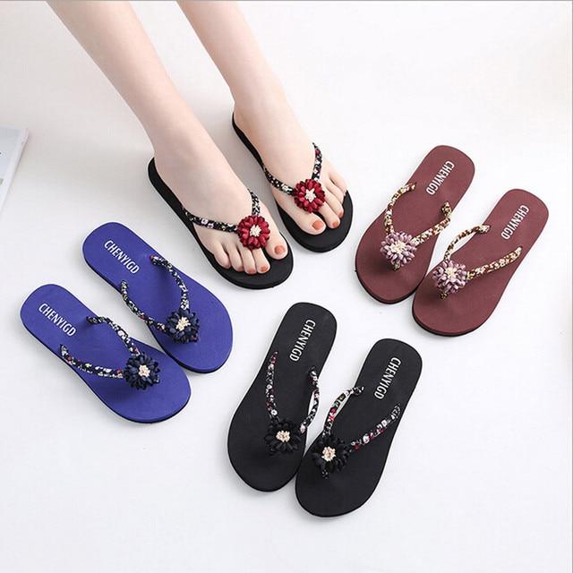 48106183e1745 2018 zapatos mujer chinelos de ver feminina Ladies Slim Women Beach Flip  Flops Flipflops Sandals Shoes Bath Slippers Sandals  7