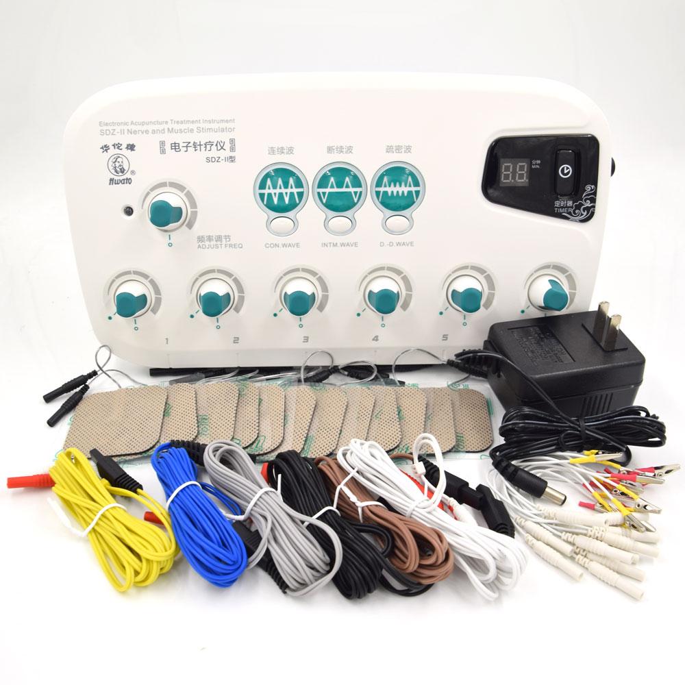 Nieuwe 6 Output channel TENS machine. Gezondheid multi functionele acupunctuur stimulatie Acupunctuur massage Naalden Stimulator-in Massage & Ontspanning van Schoonheid op  Groep 1