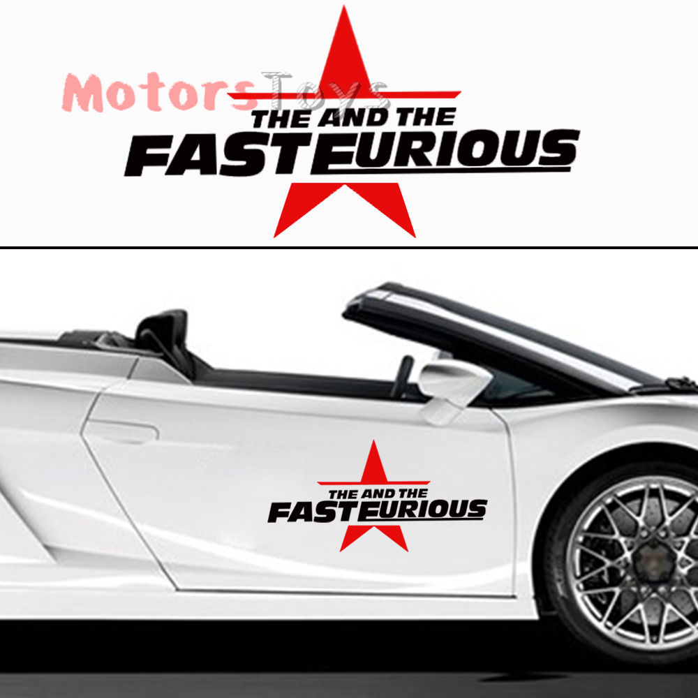 Cool car sticker design - 2pcs 50cm Jdm Cool The Fast And The Furious Personality Vinyl Car Sticker Decal China