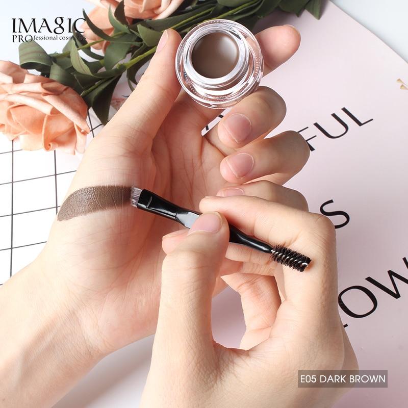 IMAGIC Professional Eyebrow Gel 6 Colors Eyebrow Enhancer Brow Enhancers Tint Makeup Eyebrow Brown With Brow Brush Tools in Eyebrow Enhancers from Beauty Health