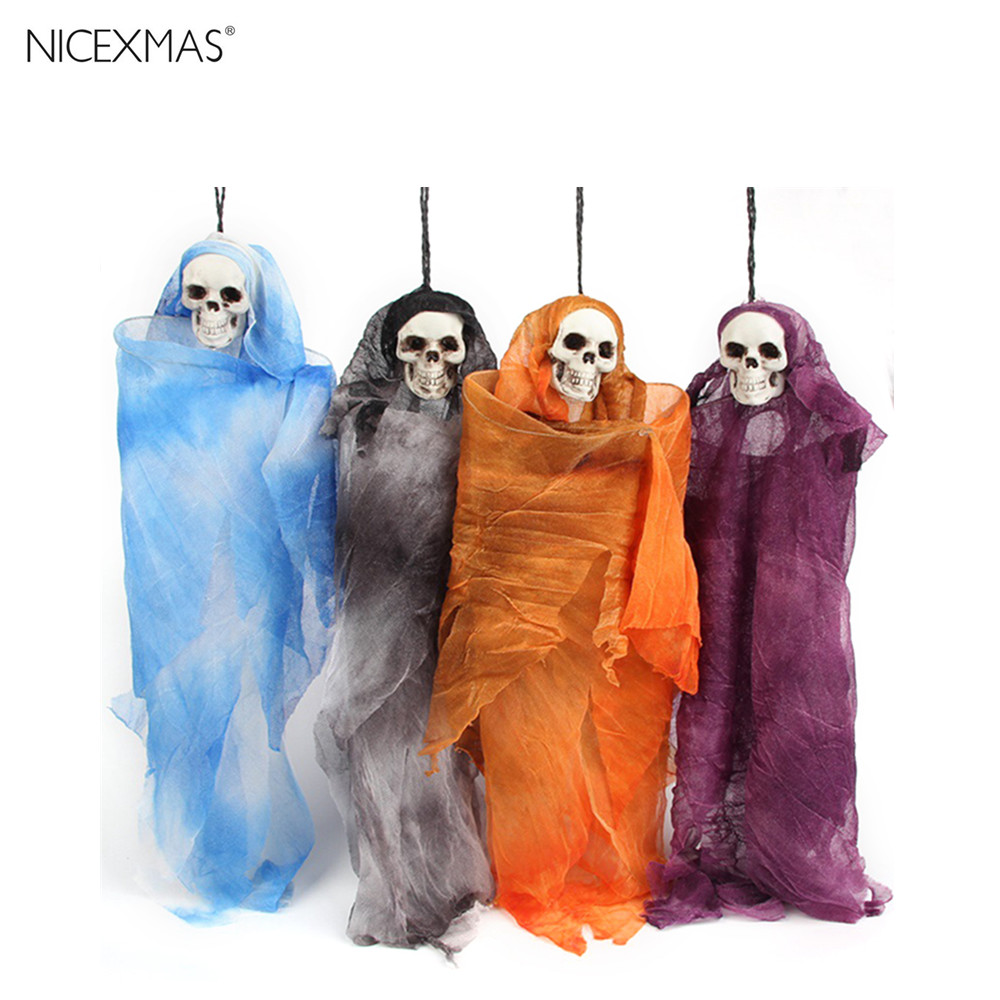 halloween props scary ghost dolls skull toys linen props halloween skull skeleton ghost decoration horror toys - Scary Props