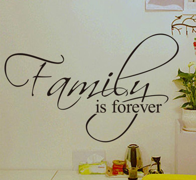 Free Shipping Family Is Forever Home Decoration Creative Quote Wall