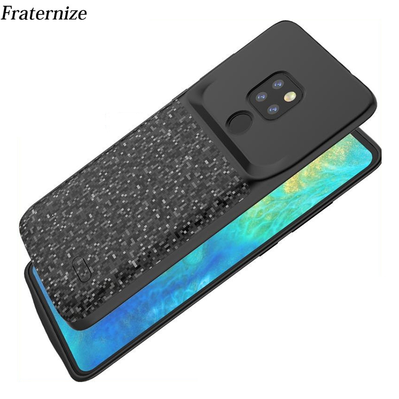 10 pcs Battery Charger Case For Huawei Mate 20 Pro Lite Slim shockproof Silicone Soft Frame power bank Charging Cover wholesale
