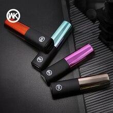 Wk design portátil carregador mini powerbank mi power bank carregador portatil para iphone x xiaomi banco de potência bateria externa mi 7 8
