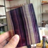 435g Doğal Cilalı Florit Blok Şifa Kristal Mineraller Kristal de cuarzo süsler Dekorasyon Sıcak Satış