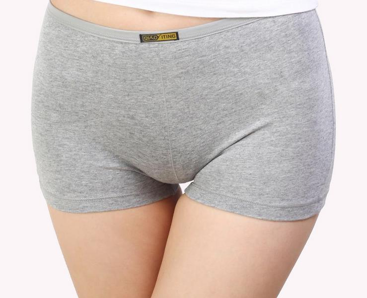 KL58 Ladies cotton panties seamless boyshort mid-rise women boxer healthy safety underwear lingerie