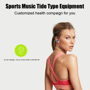 Image 4 - Fashion Magnetic Bluetooth Eaphone V5.0 Stereo Sports Waterproof Earbuds Wireless in ear Headset with Mic for iPhone Samsung