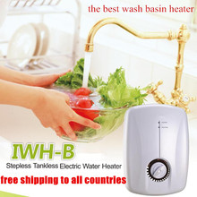 220V Electric Instant Water Heater 3500W Tankless kitchen bathroom dorm room restaurant Wash Basin Induction Hot tap free ship