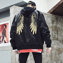 Gold Wing Hip Hop Bomber Jassen Mannen Streetwear Jas Punk Rave Rock Big Heren Jassen Mont Manteau Steampunk Mens Kleding 5J23(China)