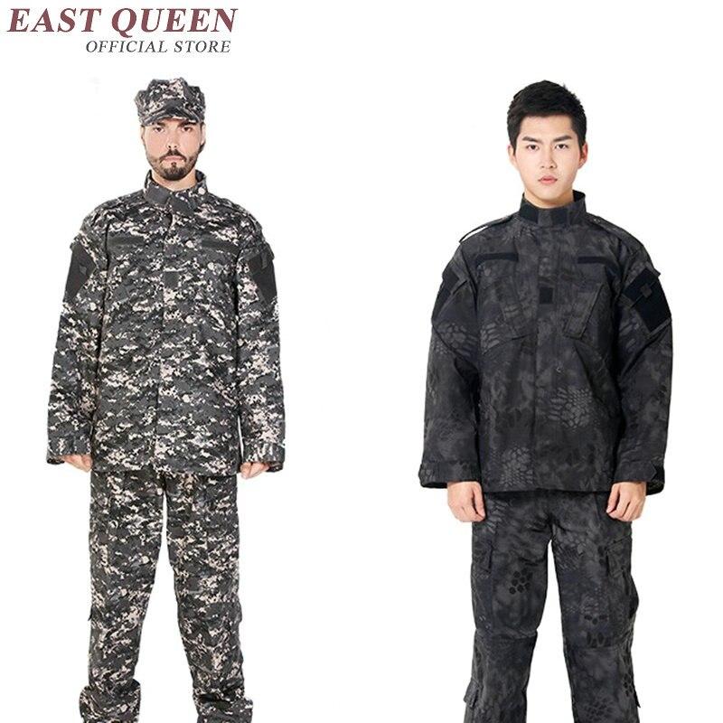 Vêtements de chasse Camouflage costumes en plein air militaire tactique uniforme de formation de l'armée uniforme pour les jeux Airsoft AA2400 YQ - 4
