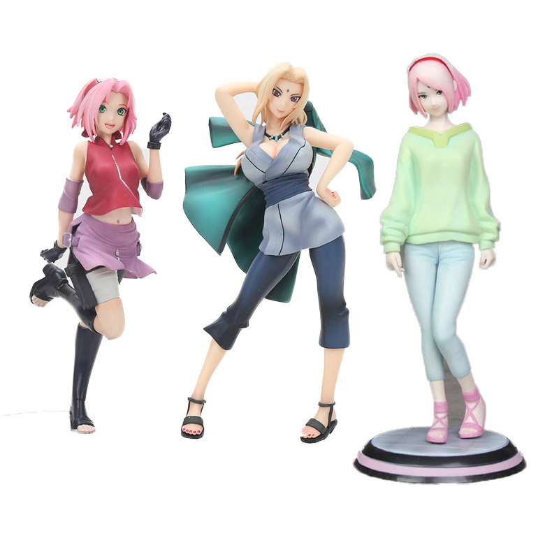 Us 1218 20 Off21cm Anime Naruto Brinquedos Shippuden Tsunade Action Painted Figure Naruto Gals Tsunade Model Doll Toys Kids Gifts In Action Toy