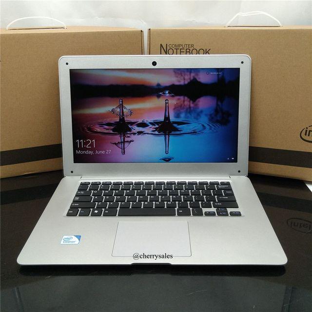 14 inch ultrabook with 4G RAM 64G SSD In-tel Atom X5-Z8300  Windows10 System Laptop HDMI WIFI