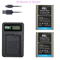 2pcs BLN 1 PS BLN1 BLN 1 Battery + LCD USB Single charger for Olympus OM D E M1 E M5 Mark II PEN F E P5 EM1 EM5 PENF EP5