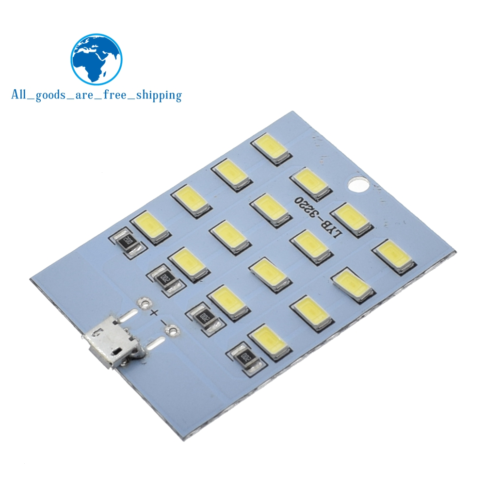 Rapture 1pcs High Quality 5730 Smd 5v 430ma~470ma White Mirco Usb 5730 Led Lighting Panel Usb Mobile Light Emergency Light Night Light Electronic Components & Supplies