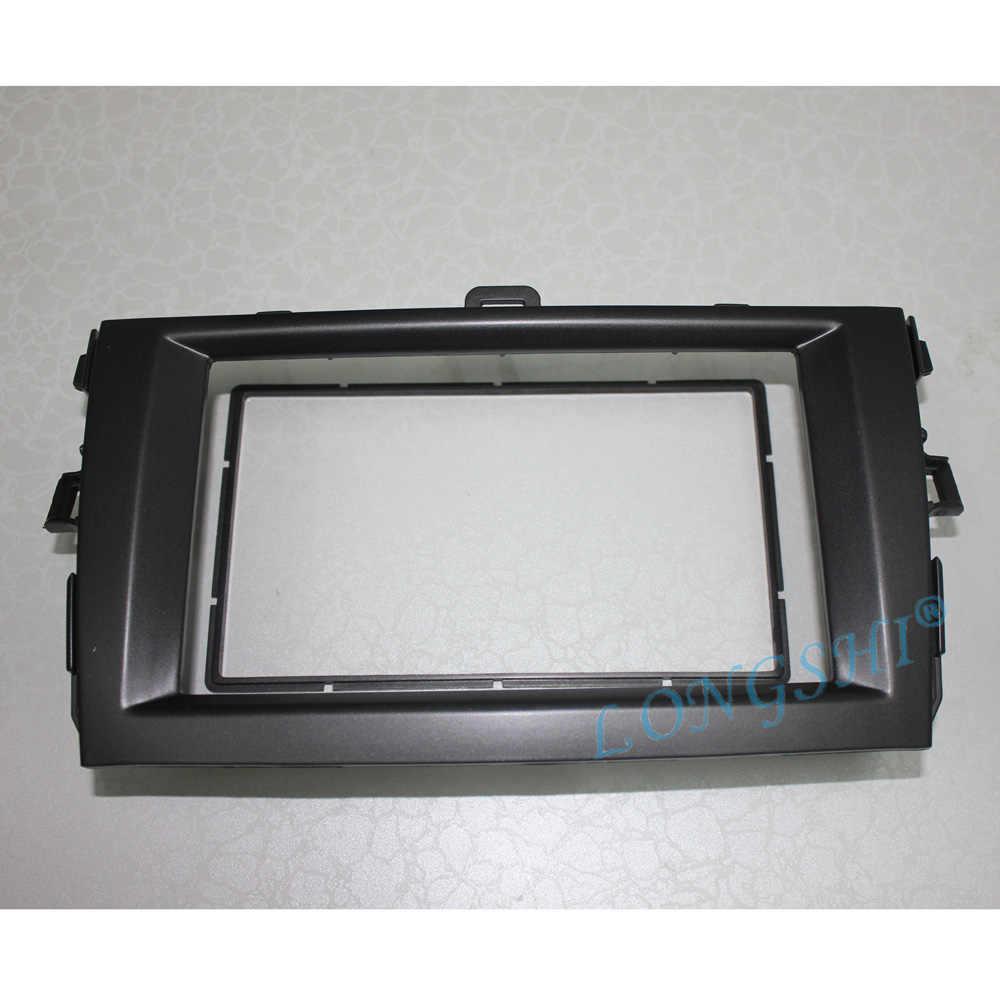 Srebrny czarny tuning samochodu 2DIN radio stereo DVD rama konsola panel do montażu na desce rozdzielczej zestawy instalacyjne dla Toyota Corolla 07 2008 2009 2010