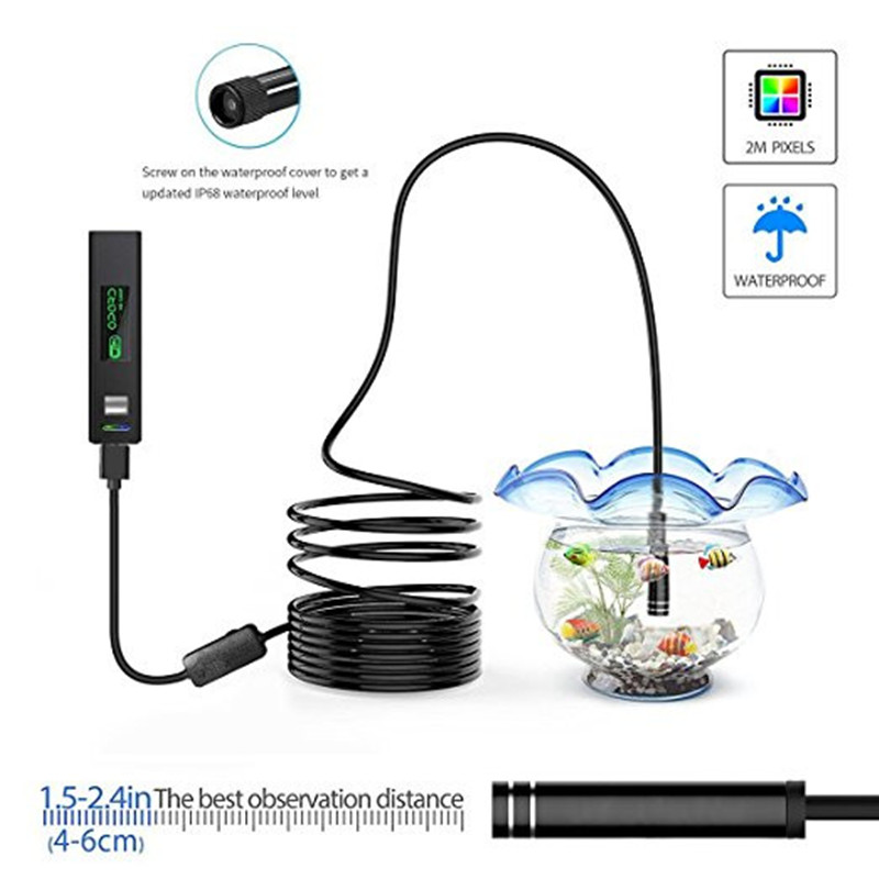 font b Wireless b font Endoscope HD 1200P Wifi USB Borescope Waterproof Inspection Camera with
