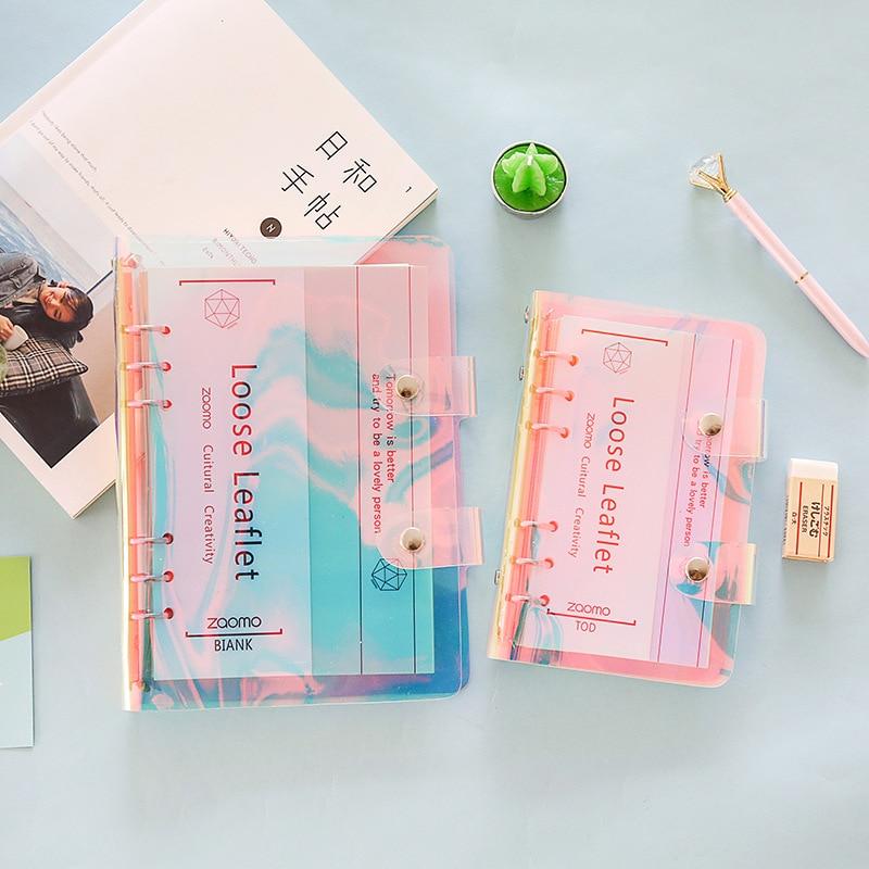Fein 1 Stücke Neue Tagebuch Buch Pvc Shell Notebook Laser Reise Tagebuch Plan Notebook Kreative Lose-blatt Notebook Tagebuch Diese Tagebuch