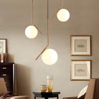 1 PC Nordic Style Pendant Lights Milky White Glassshade Modern Minimalist led Pendant Lamps for Dining Room Decoration Lighting