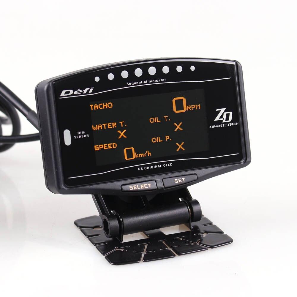 Universel jauge Automatique 10in1 Nouvelle Version DEFI ZD à L'avance Lien Compteur Tachymètre Numérique volts vitesse temp huile presse boost