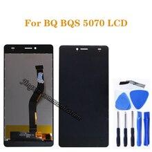 ل BQ BQS 5070 ماجيك BQ 5070 BQS 5070 شاشة الكريستال السائل + اللمس إحلال تركيبات الشاشة ل BQ S 5070 شاشة الكريستال السائل إصلاح أجزاء