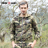 Free Army Brand Mens Hoodies 2017 Casual Style Camouflage Color Sweatshirt For Man Long Sleeve Comfortable