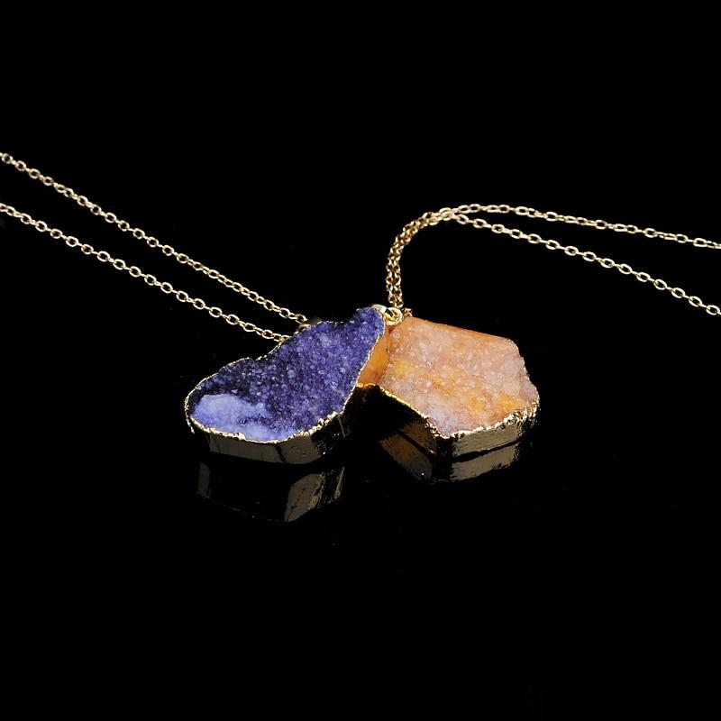 Yeni isti satış Düzensiz təbii daş kvars kristal boyunbağı - Moda zərgərlik - Fotoqrafiya 5