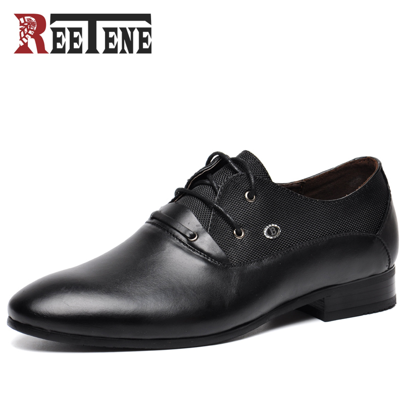Big Size 38 50 Genuine Leather Men Oxford Shoes High Quality Men Dress Shoes Leather Men