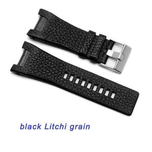 Image 3 - Kalite Hakiki Deri Watchband 32*17MM Çentik Dizel DZ1216 DZ4246 izle bant Özel arayüz Yedek Deri Kayış
